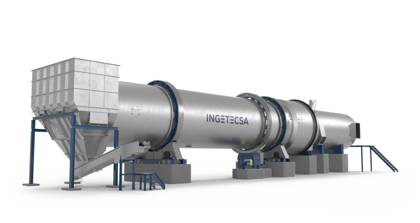 Ingetecsa's Rotary Drum Dryer used for a variety of different products