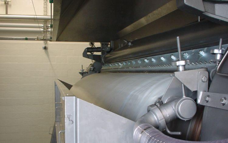 Dried milk powder on the Andritz Gouda drum dryer