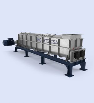 Ingetecsa mixer granulator, for accurate mixing, granulation, spraying and reacting