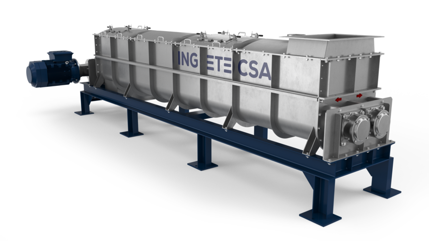 Ingetecsa mixer granulator, for accurate mixing, granulation, spraying and reacting