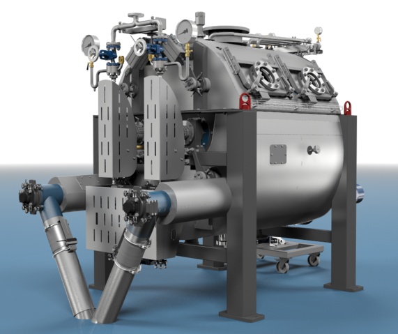 Vacuum drum drying technology
