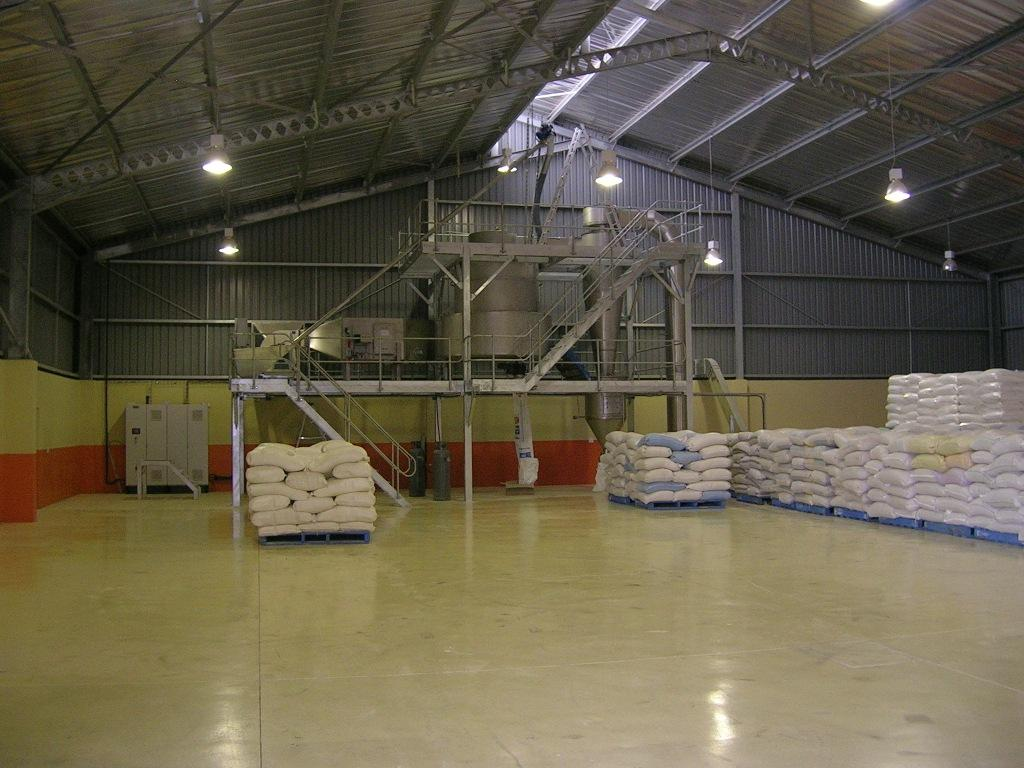 Factory for deep drying of flour